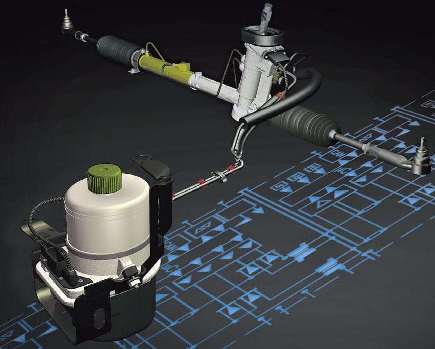 Электрогидравлические рулевые машины схема