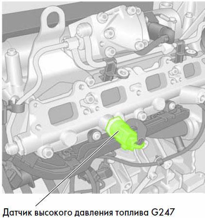 замена датчика g247 skoda 1.6 fsi blf