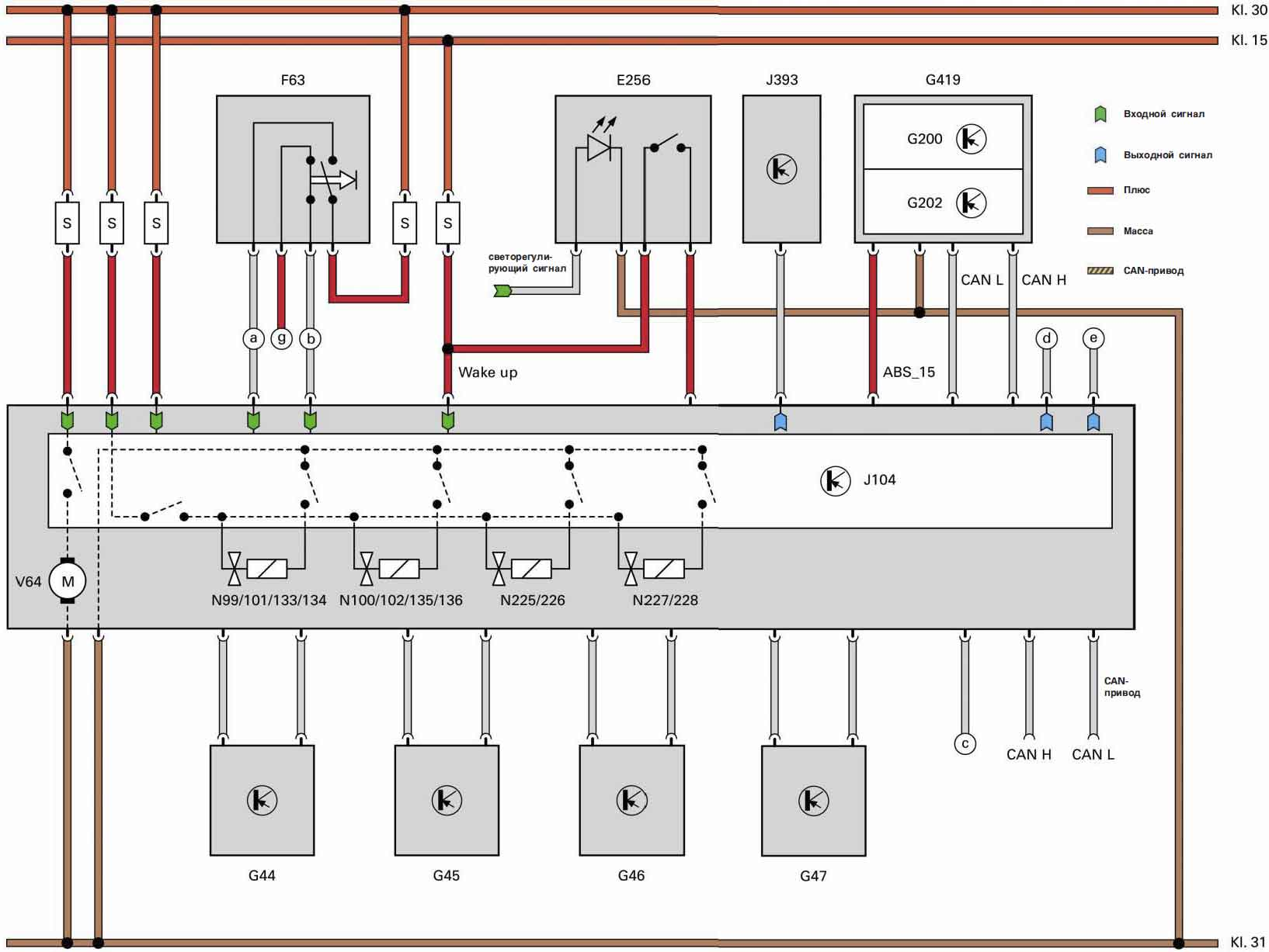 электрическая схема can-bus шины опель