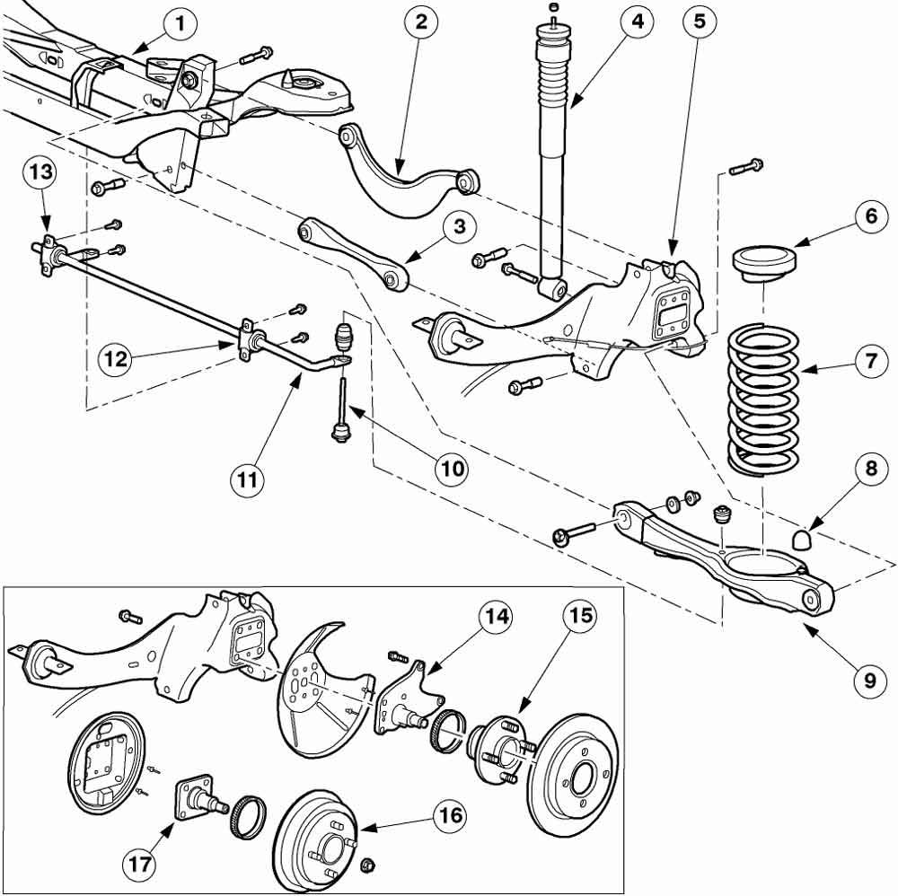 Схема подвески форд s макс